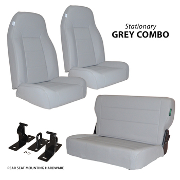 '76-'95 CJ/YJ 2-Stationary Front Seats  w/Rear Fold & Tumble