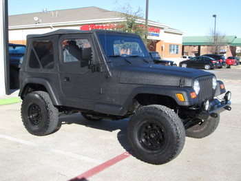 SOLD 2000 TJ Wrangler Sahara Edition Black Kevlar Lined Stock# 712194