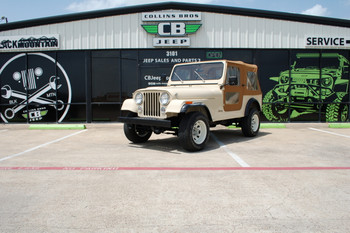 SOLD 1985 CJ-7 Tan Low mileage collectible Stock#  166302
