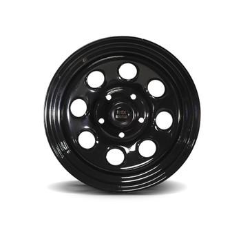 """17x9"""" Black Steel Rock Wheel"""