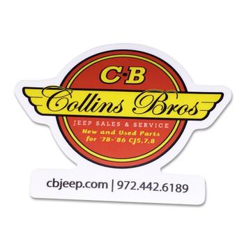 CBJeep Vintage Logo Sticker