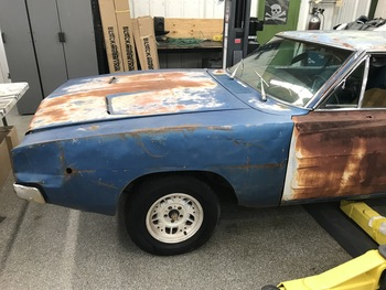 SOLD 1968 Dodge Charger project Blue  Stock# 205280