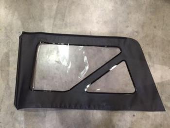'07-'18 Jeep Wrangler JK 2-Door Rear Driver Side Window Black/Clear