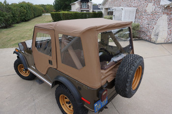 '76 - '83 Jeep CJ-5 Heritage Tigertop Soft Top 51407 in White or Tan