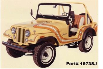 '73 Jeep CJ5 Super Jeep Decal Kit (Orange & White)