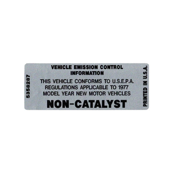 1977 Non-Catalyst Decal