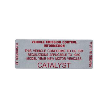 1980 Catalyst Decal