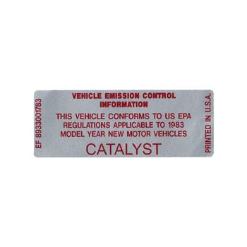 1983 Catalyst Decal