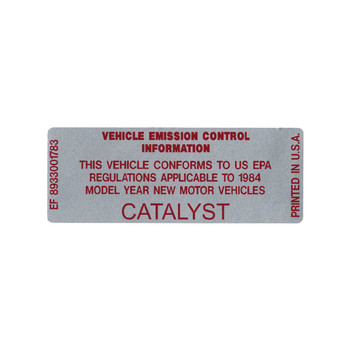 1984 Catalyst Decal