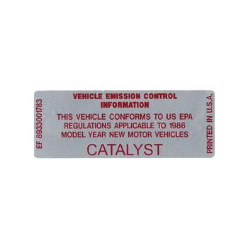1986 Catalyst Decal