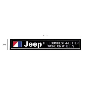 JEEP Toughest 4-Letter Word Decal