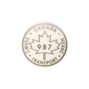987 Canada Transport Decal (Clear/Silver)