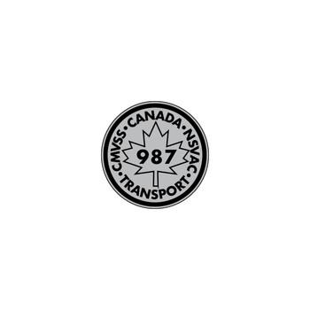 987 Canada Transport Decal (Black/Gray)