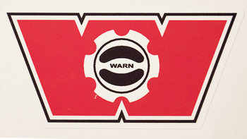 Warn Winch Hub Decal
