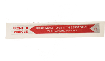 Warn Drum Decal