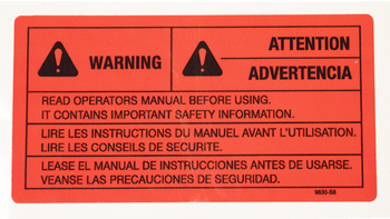 Warn Warning Decal