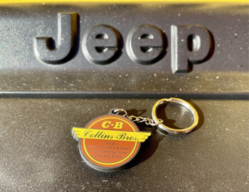 Original Collins Bros Jeep Logo Keychain