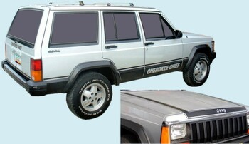 1984-86 Jeep Cherokee Chief SJ Truck Decal Kit (Black) (PGI-8486JCC-BLACK)