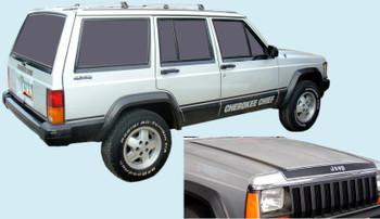 1984-86 Jeep Cherokee Chief SJ Truck Decal Kit (Black) (PGI-8486JCC-BLACK)