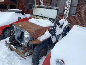 SOLD 1954 Willys CJ3B parts Jeep Stock# 225868