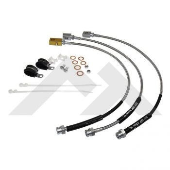 82-86 CJ Brake Hose / Brake Lines Kit (Stainless Steel) (RT31016)