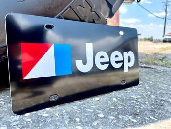 AMC Jeep Black Aluminum License Plate