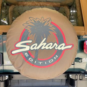 "Mopar ""Sahara"" Edition Jeep Logo Tire Cover"