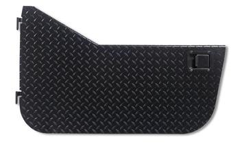 '87-'95 YJ Black Diamond Plate Half Door (w/Rotary Style Paddle)