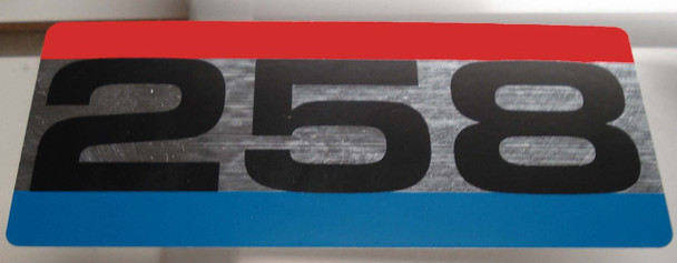 258 6cyl Air Cleaner Decal