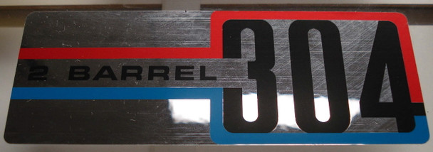 304 V-8 Air Cleaner Decal