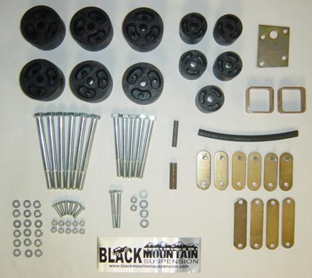 "'87-'95 YJ BLKMTN 2"" Body Lift Kit"
