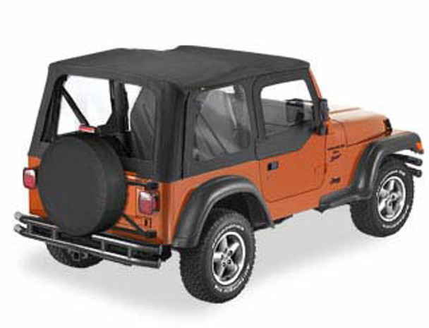'97-'02 TJ Sailcloth Replace-a-Top w/upper door skins & clear windows