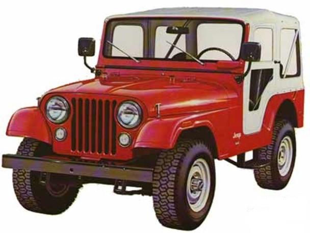 '76-'83 CJ5 60th Anniversary Replace-a-Top™ w/door skins  (White Denim)