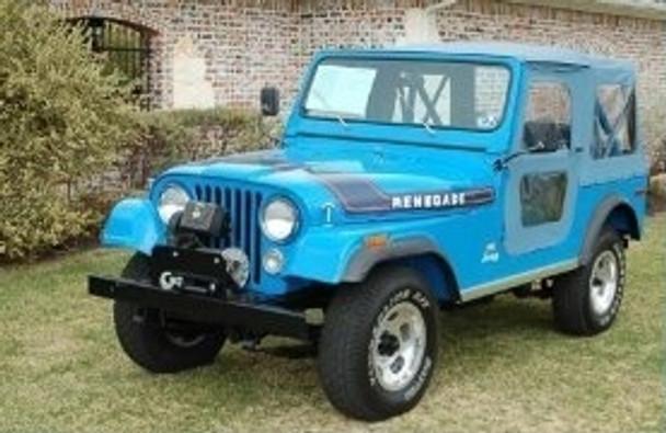'76-'86 CJ7 60th Anniversary Replace-a-Top w/door skins (Blue Denim)