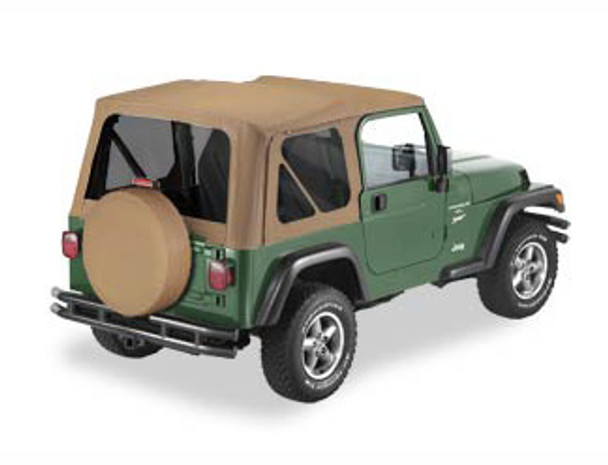 '97-'02 TJ Sailcloth Replace-a-Top w/clear windows w/o upper door skins