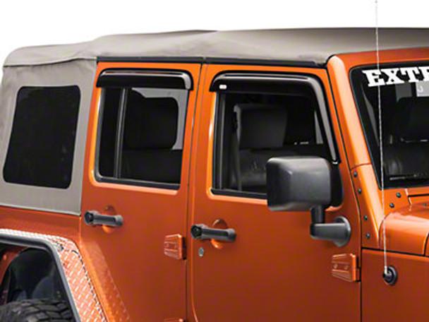 '07-Current JKU Front and Rear Window Rain Deflectors