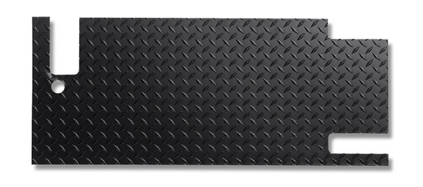 '87-'95 YJ Diamond Plate Tailgate Cover (Blk Pwdr Coat)