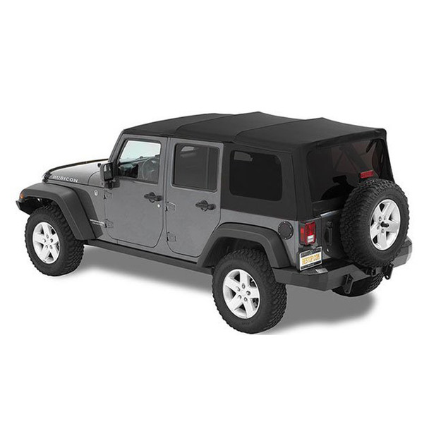 '07-'09 JK Unlimited Acrylic Replace-a-Top, tinted windows, w/o upper door skins