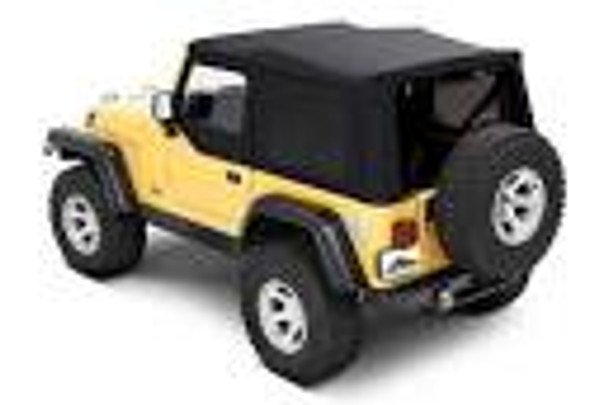 '97-'06 TJ Replacement Top w/Upper Doors & Clear Windows