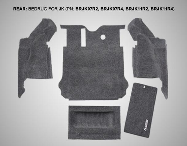 '07-'10 JK 2dr Rear 5-pc BedRug Kit