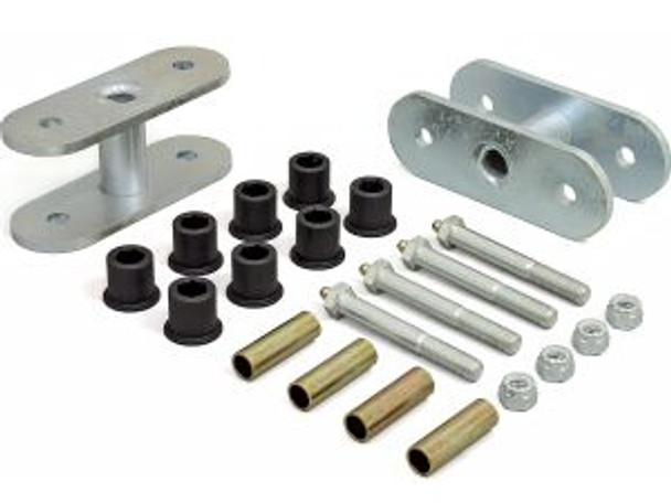 "'76-'86 CJ 1-1/2"" Lift Rear Greasable Super Shackle Kit"