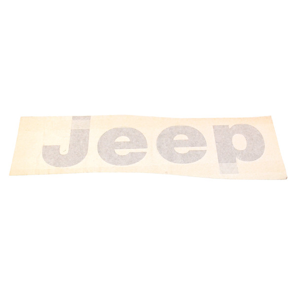 "'76-'86 CJ ""JEEP"" Tailgate Decal  (Silver)"