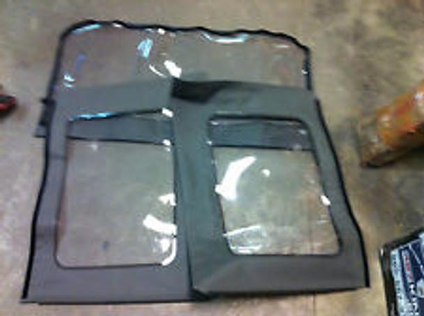 '07-'09 JK Unlimited Side & Rear Clear Window Kit (Khaki)