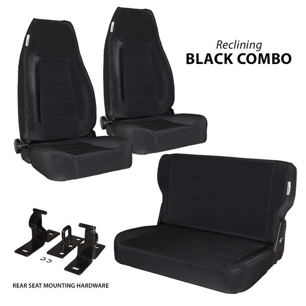 '76-'95 CJ/YJ 2-Reclining Front Seats w/ Rear Fold & Tumble