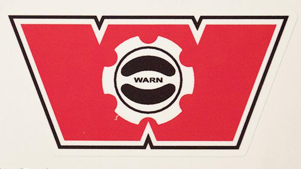 Warn Winch Hub Decal