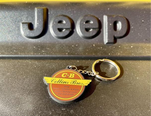 Original Collins Bros Jeep Logo Keychain