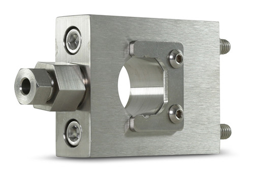 Accustream DiaLine on/off valve mounting hardware. AccuValve front-mounting collar, standard.