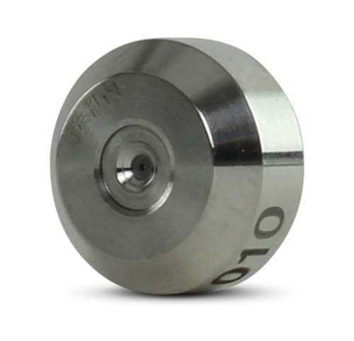 """Accustream replacement part suitable for Flow®. Replaces standard-mount diamond orifice part # 004519-XX. Sizes range from .008"""" to .016"""". Sizes smaller than .008"""" and larger than .016"""" call to order."""