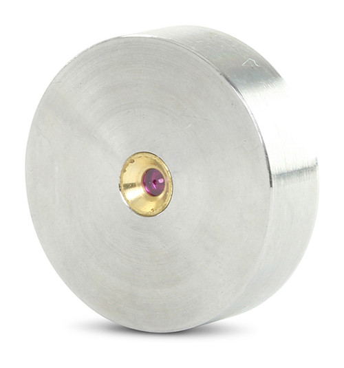 Accustream replacement orifice suitable for OMAX®. MAX JET® 5 ruby orifice. Replaces part # 303281.