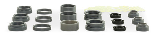 Replacement part suitable for OMAX®. Pump seal repair kit. Kit includes: static seals, dynamic seal, seal ring, U-cup seal & O-rings. Replaces OMAX® part # 303019.